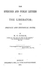 The Speeches and Public Letters of the Liberator Book