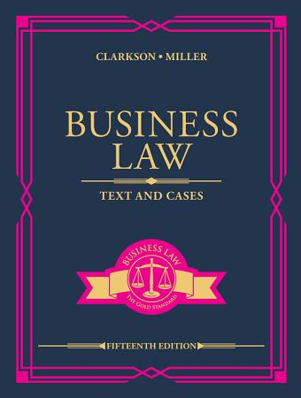 Business Law  Text and Cases PDF