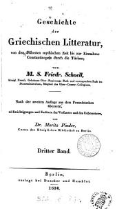 Geschichte der griechischen Litteratur, nach der 2en Aufl. aus dem Fr. übers von J.F.J. Schwarze. (M. Pinder).