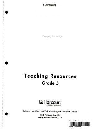 Harcourt Health   Fitness  Grade 5 PDF