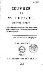 Oeuvres de M. Turgot