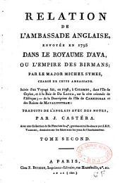 Relation de l'ambassade anglaise envoyée en 1795 dans le royaume d'Ava ou l'empire des Birmans