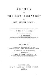 Gnomon of the New Testament: Volume 5
