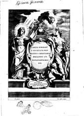 Caroli ScribanI e Societate Iesu Politico-Christianus Philippo 4. Hispaniarum regi