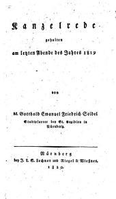 Kanzelrede am letzten Abend des Jahres 1819