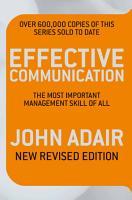 Effective Communication  Revised Edition  PDF