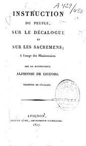 Instruction du peuple sur le décalogue et sur les Sacrements à l'usage des Missionnaires
