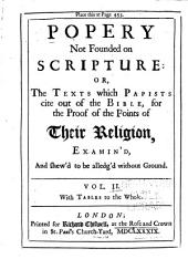 Popery Not Founded on Scripture, Or, The Texts which Papists Cite Out of the Bible: 11. Auricular confession