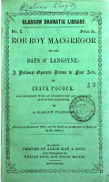 Rob Roy Macgregor  or  Auld lang syne   a national operatic drama  extended with an intr    c   by a Glasgow playgoer PDF
