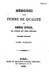 Mémoires d'une femme de qualité