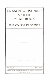 Francis W. Parker School Studies in Education: Volumes 5-8