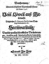 Propheceyung Doctoris Theophrasti Paracelsi Anno 1545: Vom Lewen auß Mitternacht