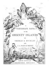 A Vertebrate Fauna of the Orkney Islands