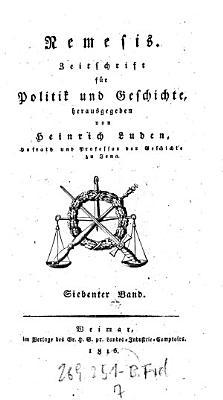 Nemesis  Zeitschrift f  r Politik und Geschichte PDF