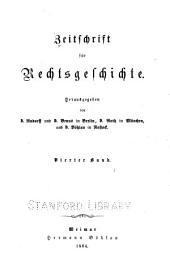 Zeitschrift für Rechtsgeschichte: Band 4