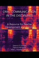 Oral Communication in the Disciplines PDF