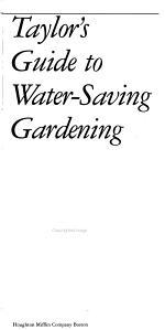 Taylor's Guide to Water-saving Gardening