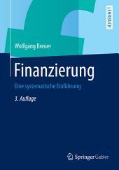 Finanzierung: Eine systematische Einführung, Ausgabe 3