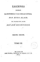 Lecciones sobre la retorica y las bellas letras, 3