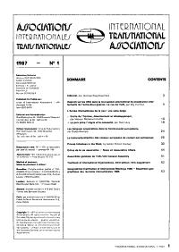 Associations Internationales PDF
