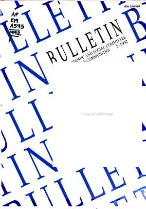 Bulletin   Economic and Social Committee of the European Communities PDF