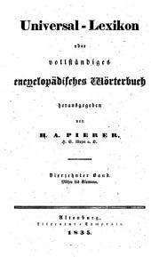 Universal-lexikon, oder Vollständiges encyclopädisches wörterbuch: Band 14