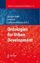 Ontologies for Urban Development