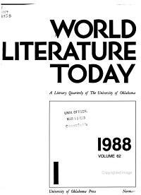 World Literature Today PDF