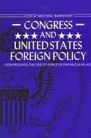 Congress and United States Foreign Policy PDF