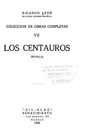 Los centauros: novela