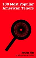 Focus On  100 Most Popular American Tenors PDF
