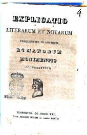 Explicatio literarum et notarum frequentius in antiquis Romanorum monimentis occurrentium[Ainsworthii]