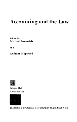 Accounting and the Law PDF