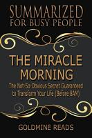 THE MIRACLE MORNING   Summarized for Busy People PDF