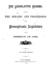 The Legislative Record: Containing the Debates and Proceedings of the Pennsylvania Legislature