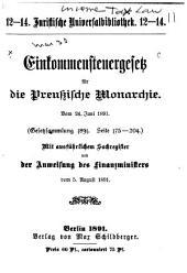 Einkommensteuergesetz für die preussische Monarchie