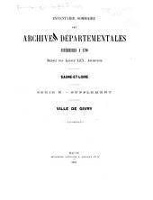Inventaire-sommaire des archives départementales de Saône-et-Loire ...