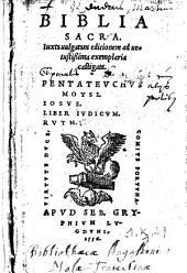 Biblia sacra juxta vulgatam editionem ad vetustissima exemplaria castigata