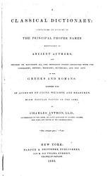 A Classical Dictionary PDF