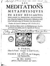 Méditations métaphysiques de René Descartes touchant la première philosophie...