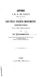 Lettres à M. F. de Sauley ...: sur les plus anciens monuments numismatiques de la série mérovingienne
