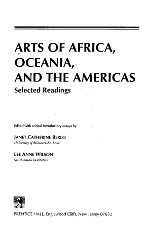 Arts of Africa  Oceania  and the Americas PDF