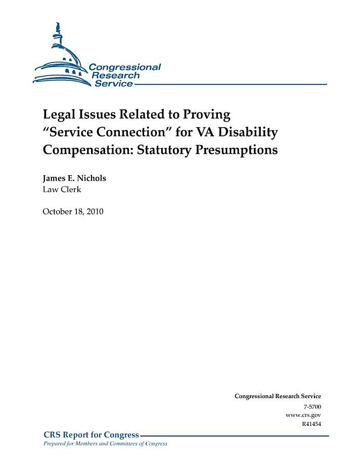 Legal Issues Related to Proving 'Service Connection' for VA Disability Compensation