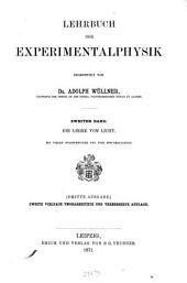 Lehrbuch der Experimentalphysik: mit theilweiser Benutzung von Jamin's Cours de physique de l'école polytechnique. 2
