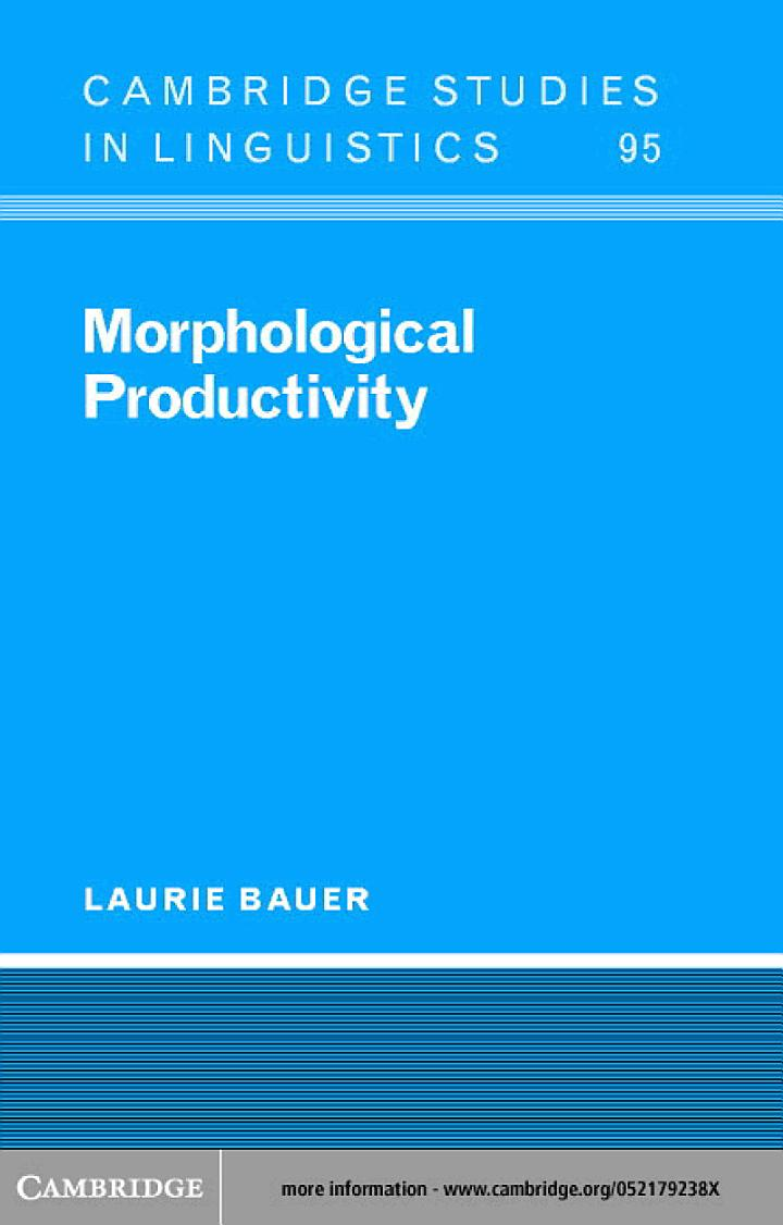 Morphological Productivity