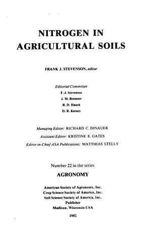 Nitrogen in Agricultural Soils PDF