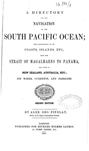 A Directory for the Navigation of the South Pacific Ocean