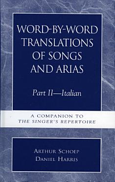 Word by Word Translations of Songs and Arias  Part II PDF