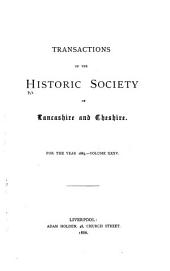 Transactions of the Historic Society of Lancashire and Cheshire: Volume 35