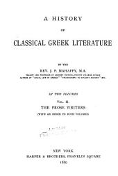 pt.II. The prose writers, from Isocrates to Aristotle